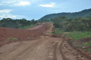 A short detour around the construction.